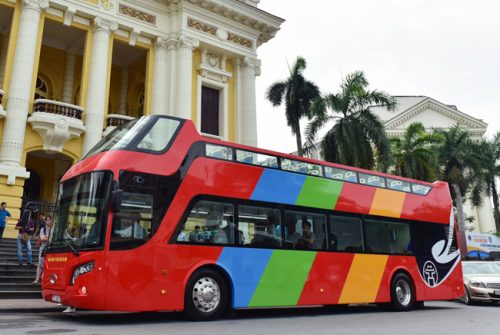 Cuối tháng 5, xe buýt hai tầng phục vụ du khách ở Hà Nội sẽ hoạt động