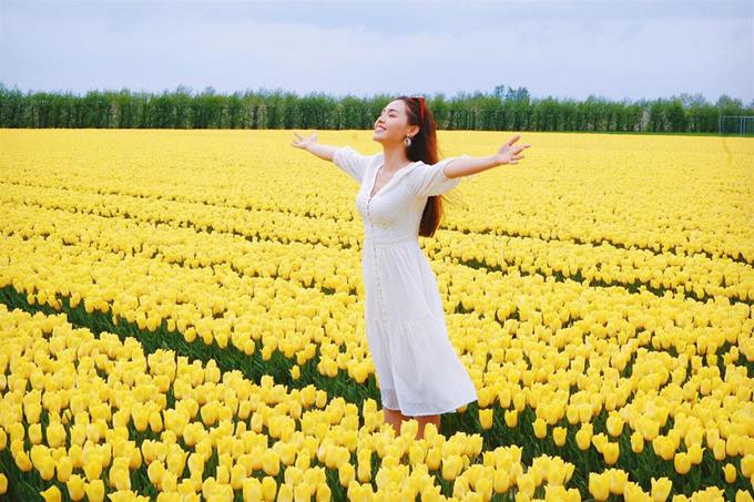 Sao Việt nô nức tới Hà Lan ngắm mùa hoa tulip xa sỉ nao lòng - 7