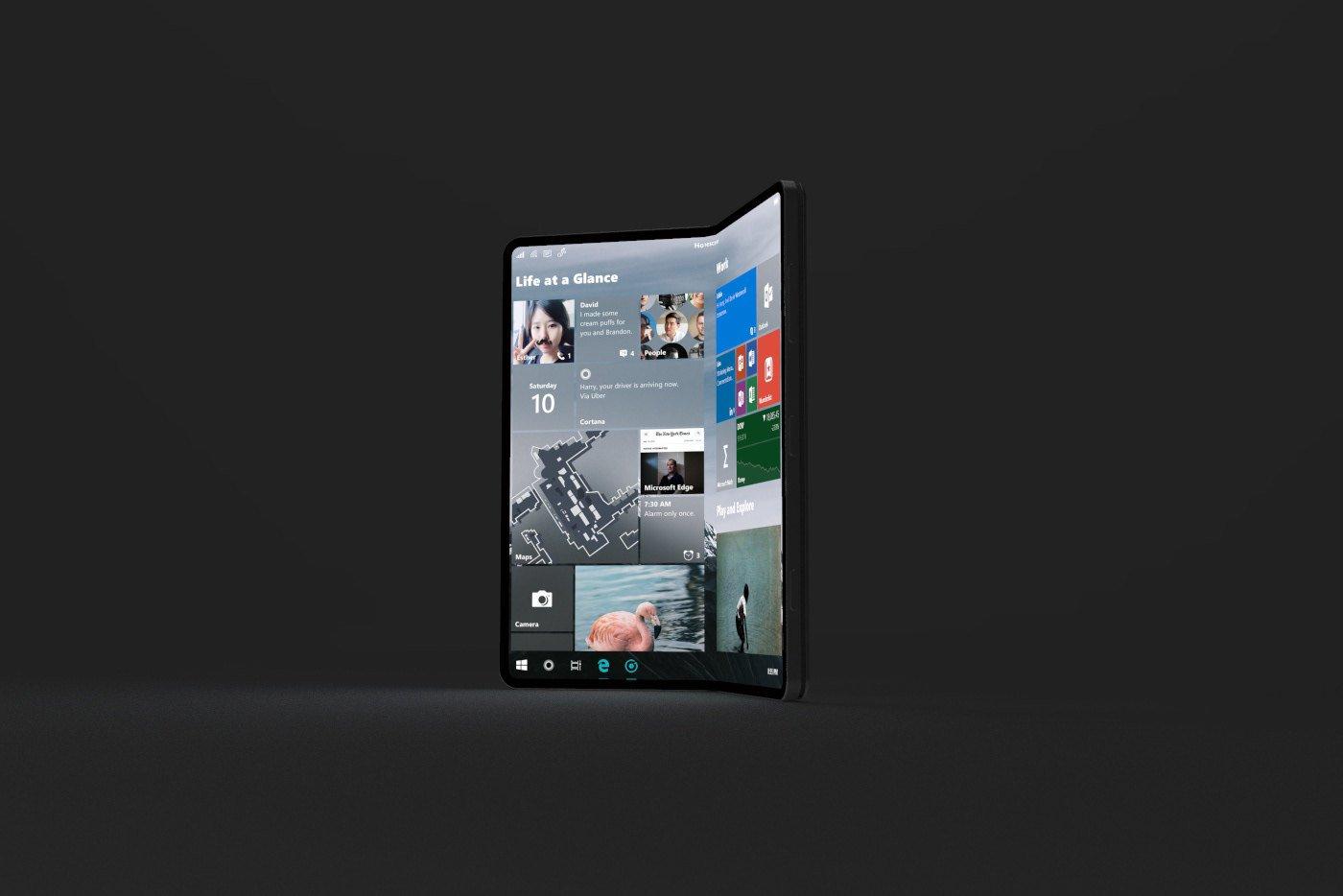 Surface Phone màn hình gập sẽ hồi sinh điện thoại của Microsoft?
